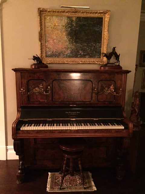 Great-grandmother's English-made piano, 1892